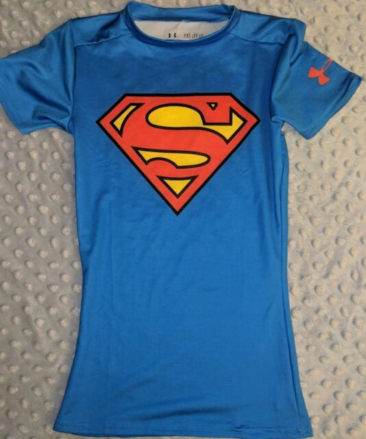 SM Proof Shirt Size-XS Under Armour Boys Small Super Man Water
