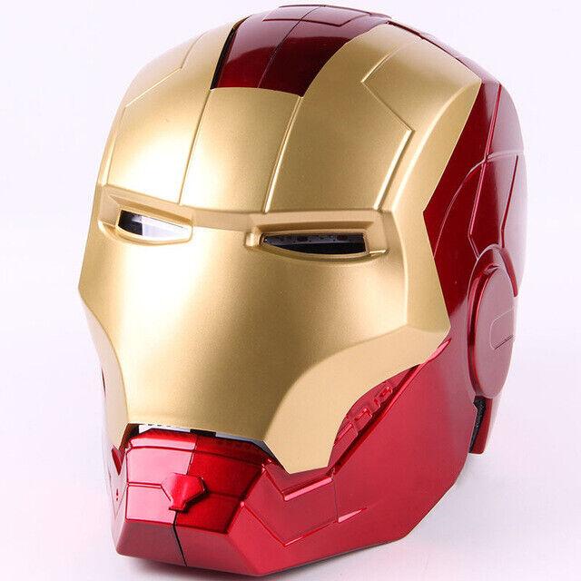 Marvel Avengers Iron  uomo Helmet Mask Iron uomo Cosplay Helmet Lighting Eyes PVC  più economico