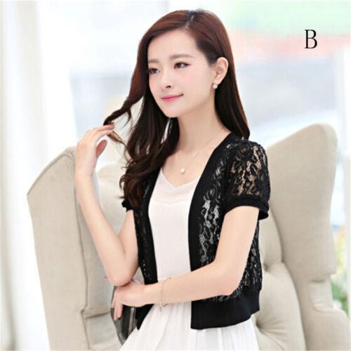 Size M-5XL Summer Women Casual Kimono Cardigan Female White Shirt Lace BloBLUS