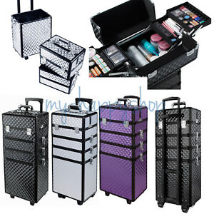 Stacked 4 in 1 Makeup Vanity Case Cosmetics Nail Kit Box Beauty ... 364b1ddc64ed
