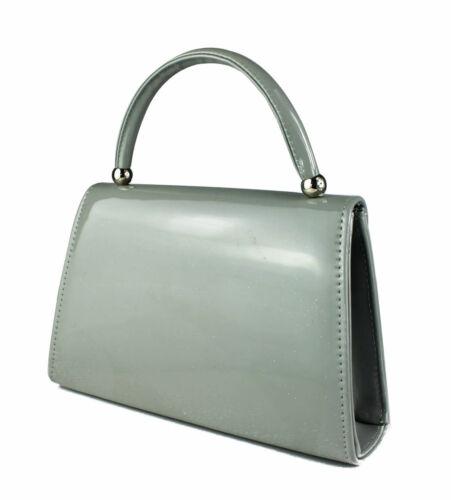 Women Patent leather Clutch Bag Top Handle Evening Bag Party Handbag 10 colours.