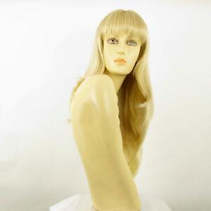 Perruque-femme-mi-longue-blond-dore-meche-blond-tres-clair-NOEMIE-24BT613