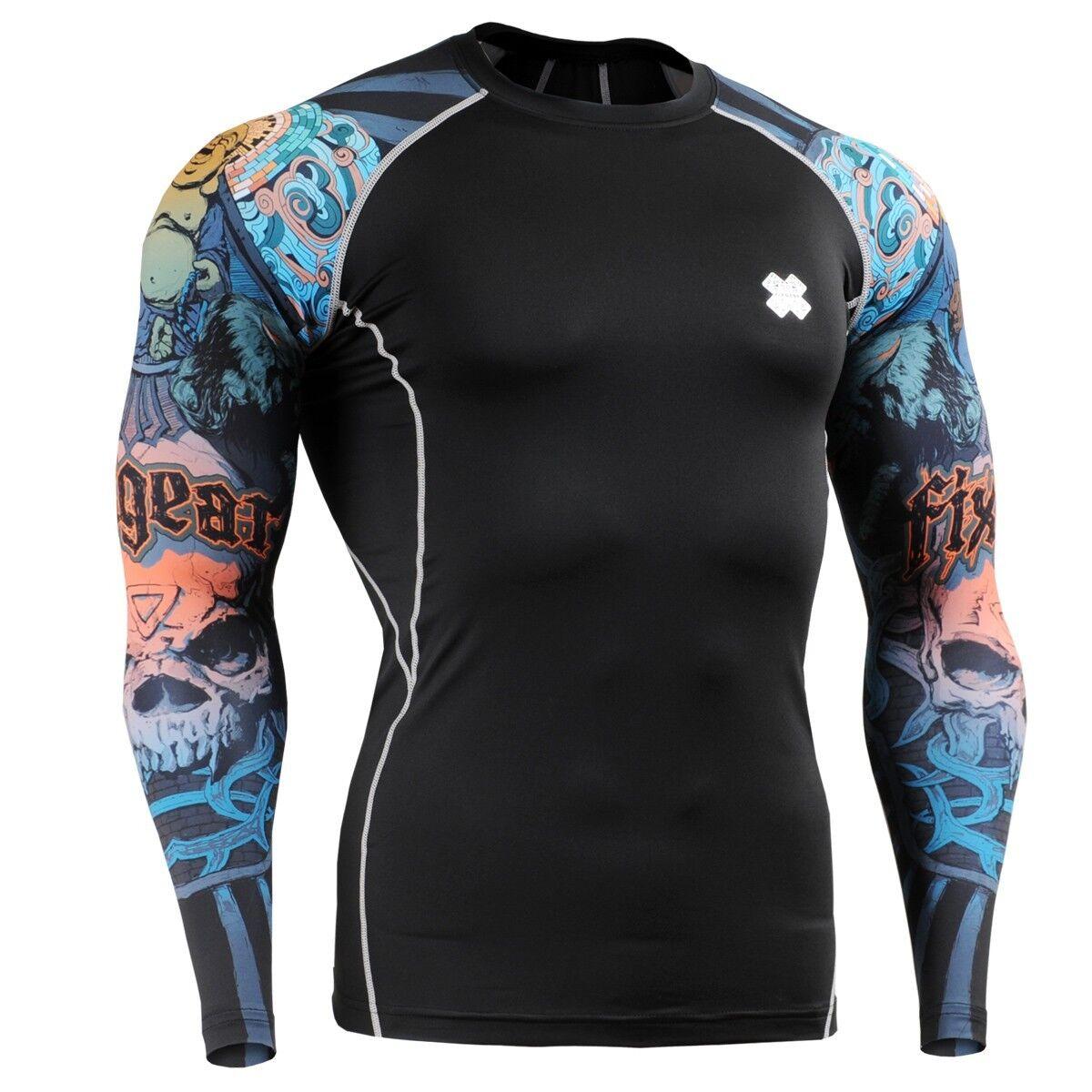3f2db667475 FIXGEAR CPD-B74 Compression Base Layer Skin-tight Shirts Training Gym MMA