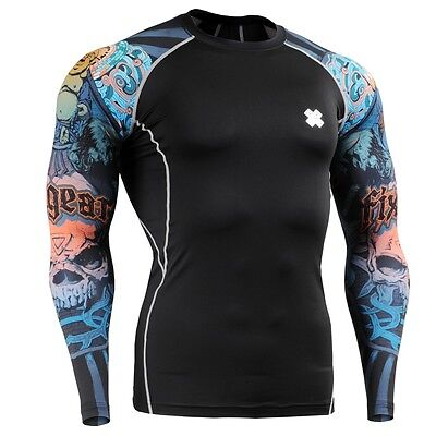 FIXGEAR CPD-B74 Compression Base Layer Skin-tight Shirts Training Gym MMA