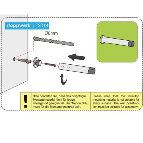 Zubehör Gummi PufferInkl Stoppwerk Türstopper für die WandTürpuffer
