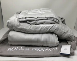 New Boll And Branch Luxury Large Stripe Flannel King Sheet Set 991492279480 Ebay