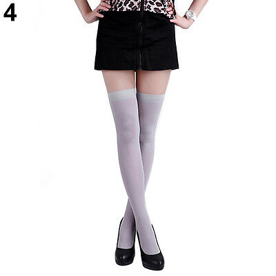 WOMEN'S WARM PURE COLOR OPAQUE SEXY THIGH HIGH STOCKINGS OVER THE KNEE SOCKS