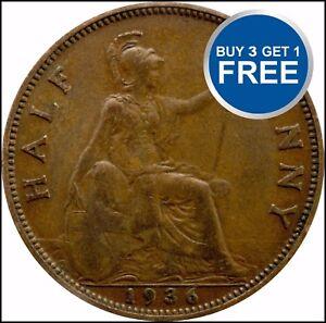 1911 à 1936 george v half penny/demi pennies choix de l'année/date