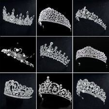 Wedding Bridal Tiaras Pearl Rhinestone Crystal Headband Wedding Veil Hair Crown