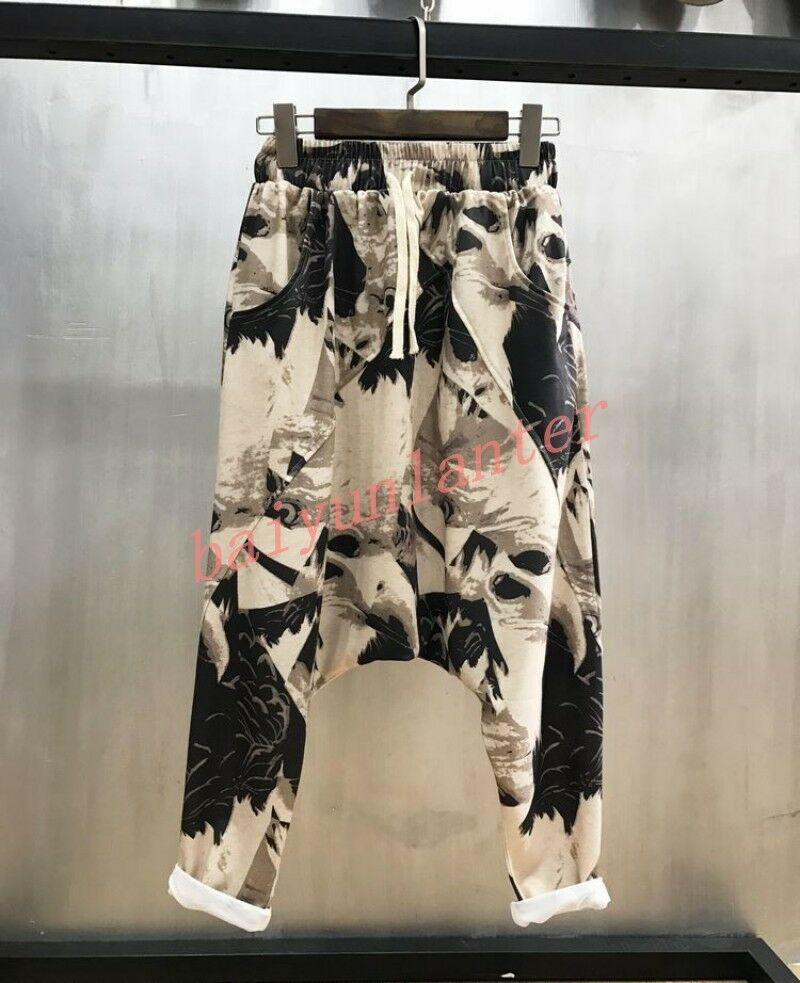 Womens Hip Hop Floral Sport Harem Ninth Pants Short Trousers Summer Loose Fit UK