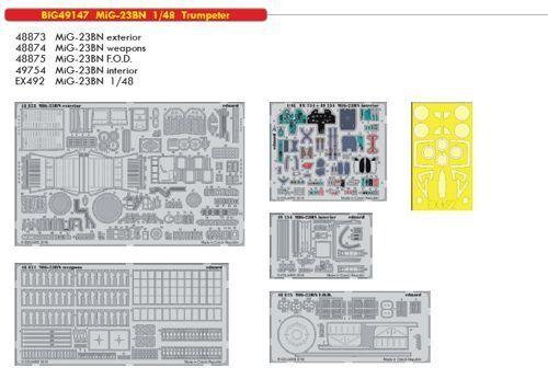 Eduard Big Ed 49147 1 48 Mikoyan MiG-23BN Flogger Trumpeter