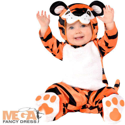 Baby Tiny Tiger Boys Fancy Dress Animal Zoo Toddler Infants Costume Outfit New
