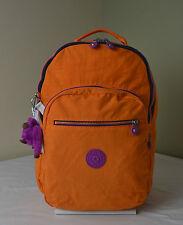 Kipling BP3907 Seoul  Popsicle Orange Backpack with Laptop Protection