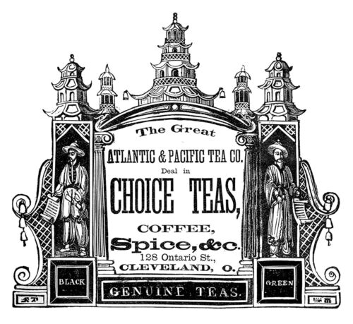"Vintage Tea Label Design 3-1//2/"" Large Fused Glass Decal 16CC674"