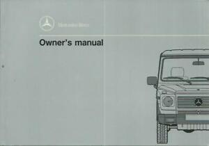 MERCEDES-G-Klasse-463-Owner-s-Manual-1992-1993-Handbuch-Handbook-500-GE-BA