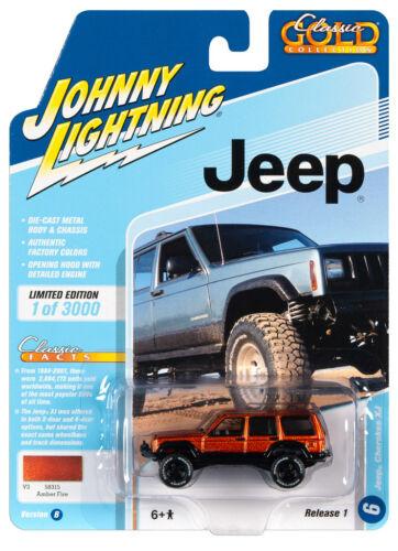 Johnny Lightning JLCG021 Classic Gold VER B Jeep Cherokee XJ