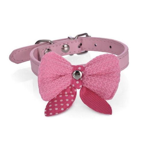 Pajarita corbata perro cachorro gato bowknot PET collar polka dot gargantilla
