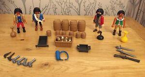 Vintage-Playmobil-Set-figuras-privadas-Tesoro-armas-en-muy-buena-condicion