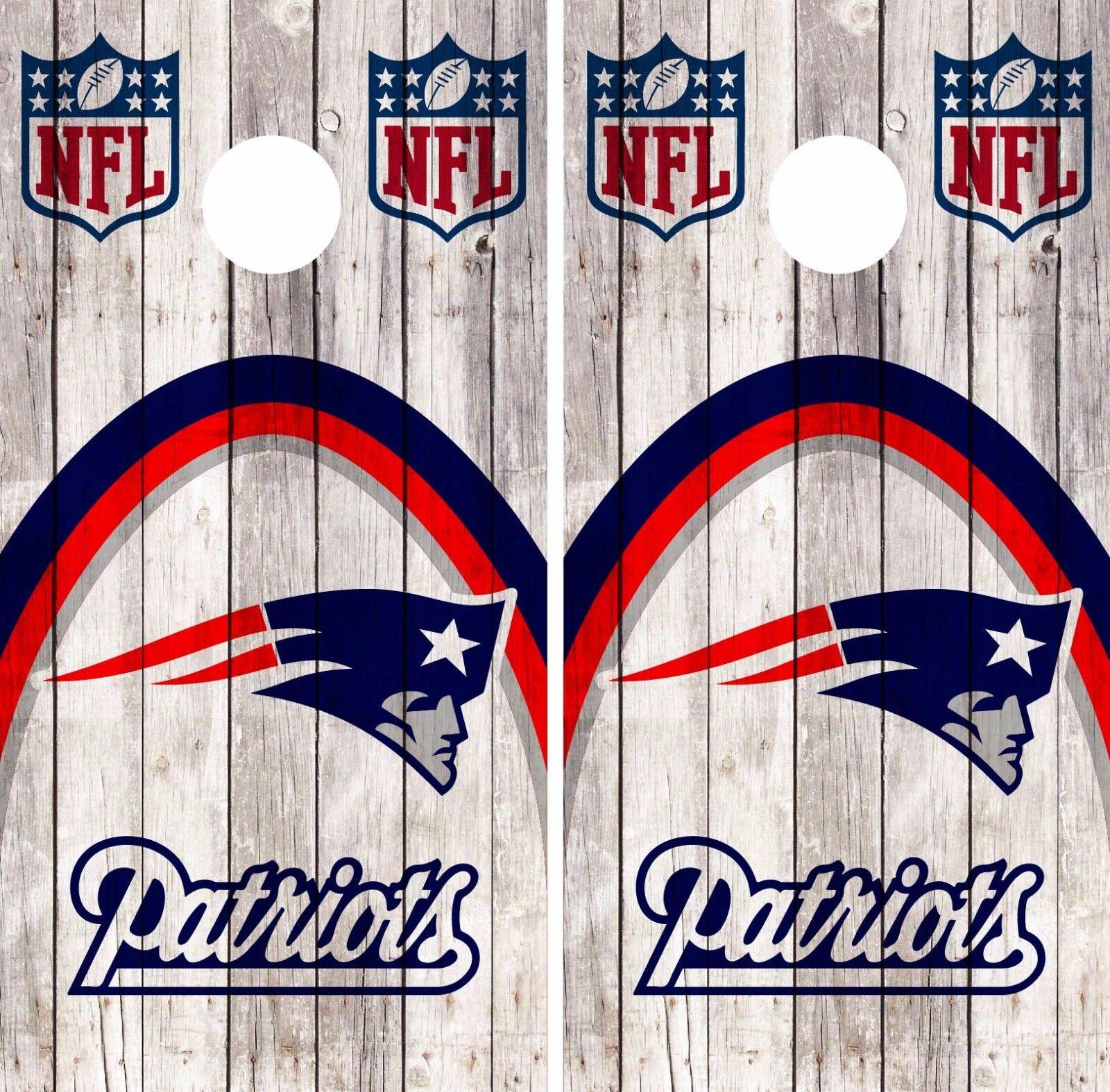 New England Patriots Cornhole Skin Wrap NFL Football Vintage Vinyl  Decal DR56  100% fit guarantee