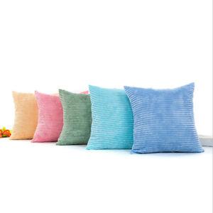 NEW-Plush-Pillow-Fluffy-Cushion-Cover-Corn-Stripe-Square-Waist-Throw-Pillow-6A