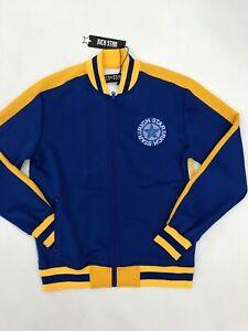 Rich-Star-Big-Logo-Track-Jacket-Royal-Blue-Gold-Yellow-Mens-Sample-Large-Nice