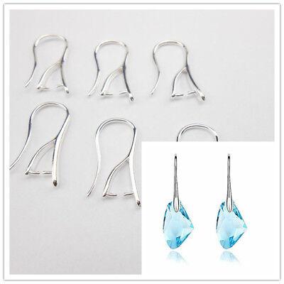 10PCS DIY Lot Silver Jewelry Findings Pinch Bail Hook Earring Ear Wires Free