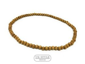 Details About Mens Surfer Wood Beaded Necklace Surf Boho Beach Ladies Boys Stretch Choker