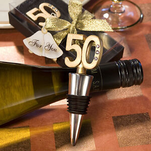 Bomboniera Tappabottiglie Tappo Anniversario Compleanno 50 Anni Cod