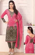 Elegant Crepe Designer Printed Unstitched Dress Material Suit D.No SFD11025