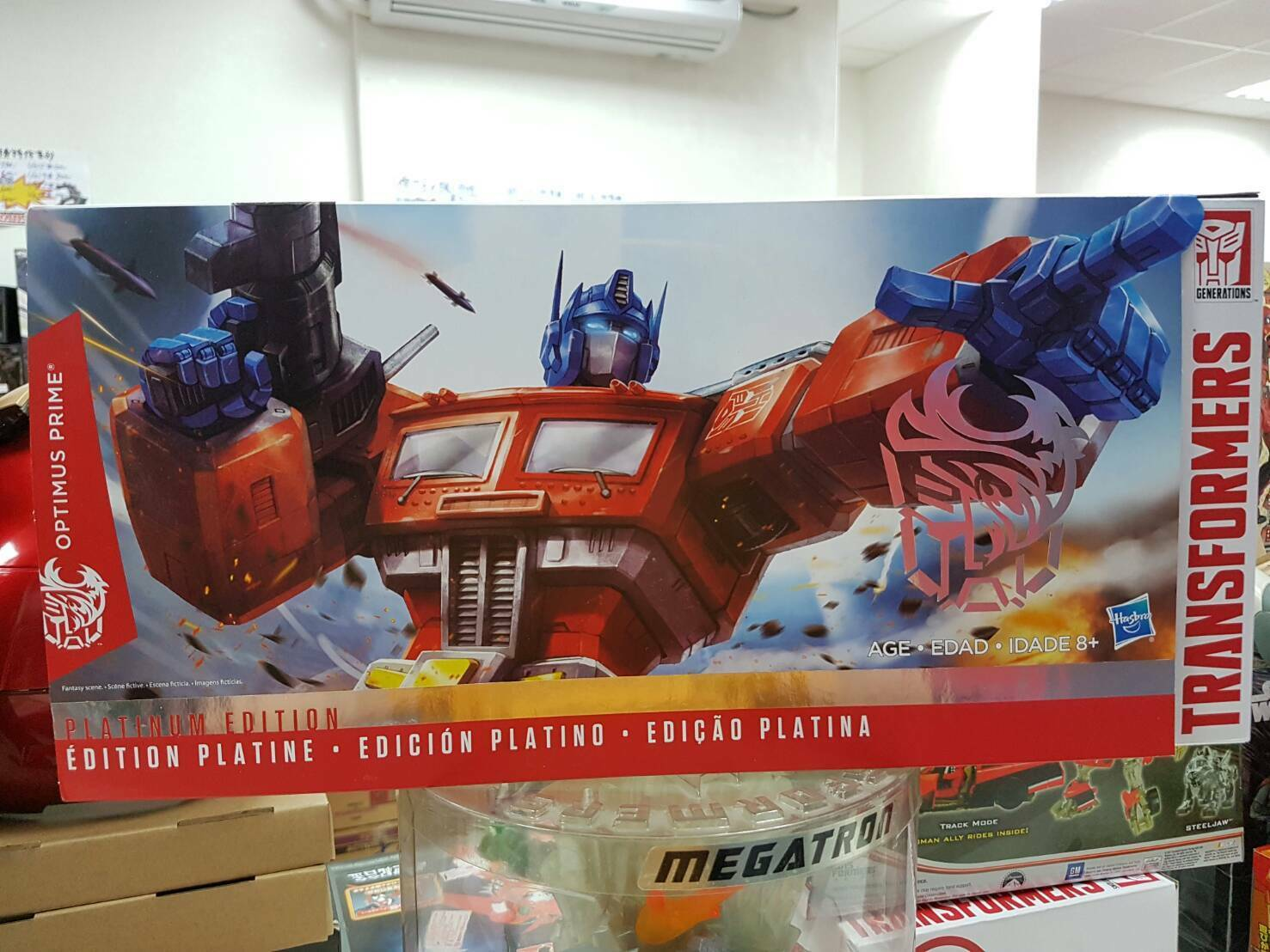 Transformers Platinum Edition Year of the Goat 2015 Optimus Prime Hasbro limited
