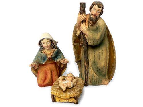 K038 Krippenfiguren 10cm 12tlg Krippe im modernen Stil Holzoptik Polyresin