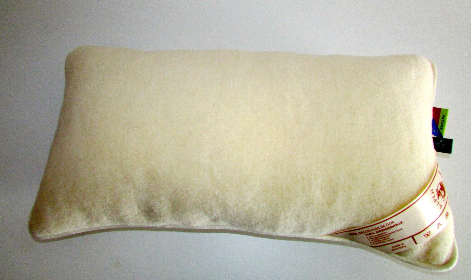 Cuscino Poggiatesta di Lana per Dormire 100% Merino Velour + Imbottitura