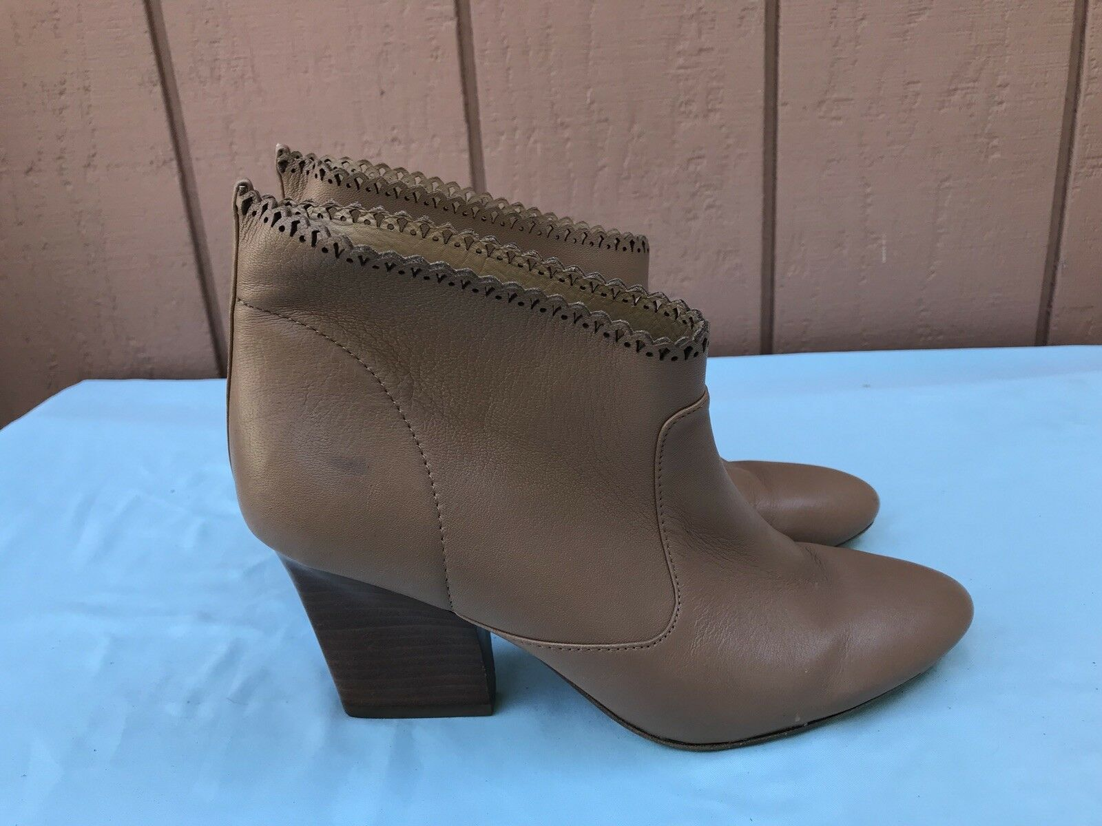 $295 BELLE Sigerson Morrison Nicki BOOTIES Women's US 8B Leather Boots A9