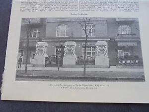 1914 Baugewerkszeitung 42/berlin Wilmersdorf Empereur Allee-ung 42 / Berlin Wilmersdorf Kaiserallee Fr-fr Afficher Le Titre D'origine Conduire Un Commerce Rugissant