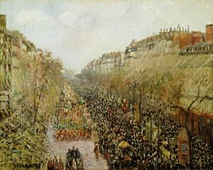 Boulevard-Montmartre-Mardi-Gras-Paris-Painting-by-Camille-Pissarro-Reproduction