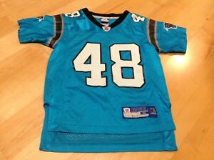 new product 9d075 06250 Details about Authentic Carolina Panthers Throwback 48 Stephen Davis Reebok  Jersey Youth Small