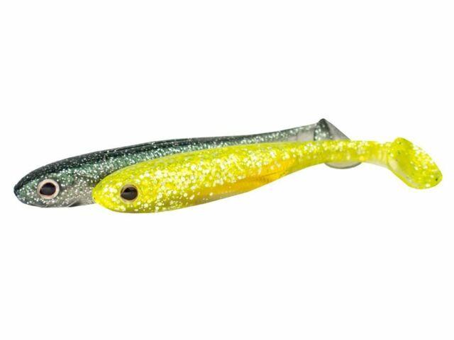 Soft Plastic Bait Lure Fishing CRAZY FISH Shad 3pcs DAINTY Jig Heads Drop Shot