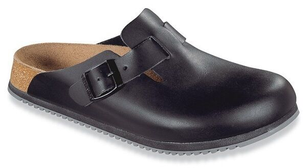 BIRKENSTOCK Professional Boston SL 60194 Clogs schwarz Leder Superlauf Gr.36-48