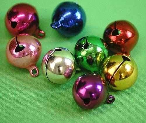 Noël-Artisanat-à coudre-couture-Décoration Multicolore Cuivre Cloches