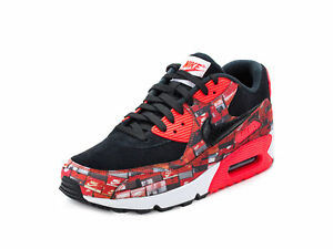 Nike-Homme-Air-Max-90-We-Love-Nike-034-Imprime-Noir-Crimson-White-AQ0926-001