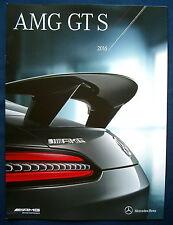 Prospekt brochure 2016 Mercedes AMG GT S (USA) MEGA