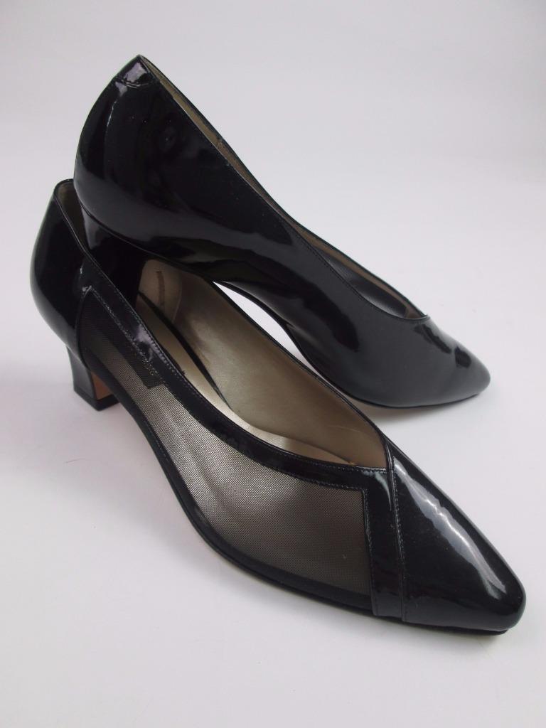 Sesto Meucci Negro Cuero patentado Malla señaló señaló señaló Gatito Tacones 9.5 M Nuevo  la mejor oferta de tienda online