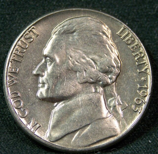 1963 D Jefferson Nickel, BU, Sharp! Uncirculated, Fresh From Bank Rolls....