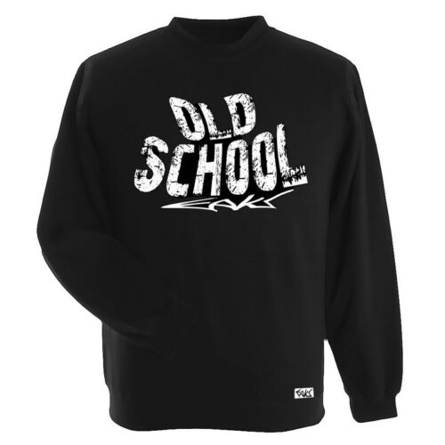 "Eaks ® Messieurs Sweatshirt /""Old School/"" Noir Graffiti Pull Pull Hip Hop Rap"