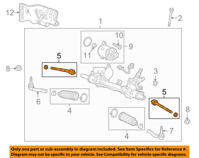 GM OEM Steering Gear-Inner Tie Rod End 19178561