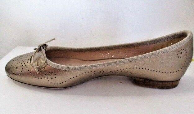 Unützer Ballerinas 6968 Metallic Movie Hochwertiges Leder Bronze Metallic Look!