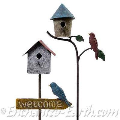 New Mini Garden- Fairy Garden Metal Garden Bird House /Choose from two designs