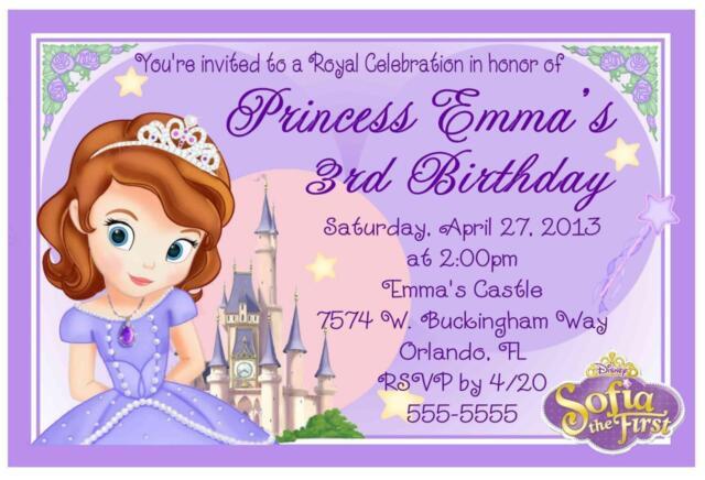 Princess Sofia The First Birthday Invitations Design Ebay