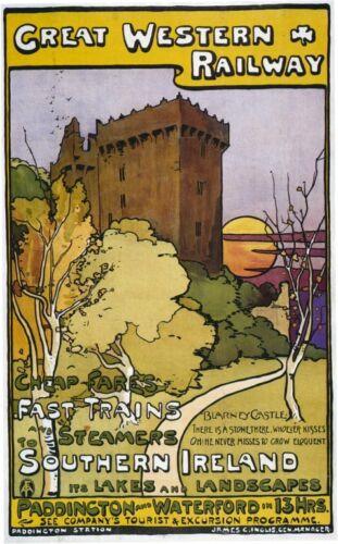 052 Vintage Railway Art Poster Blarney Castle Ireland