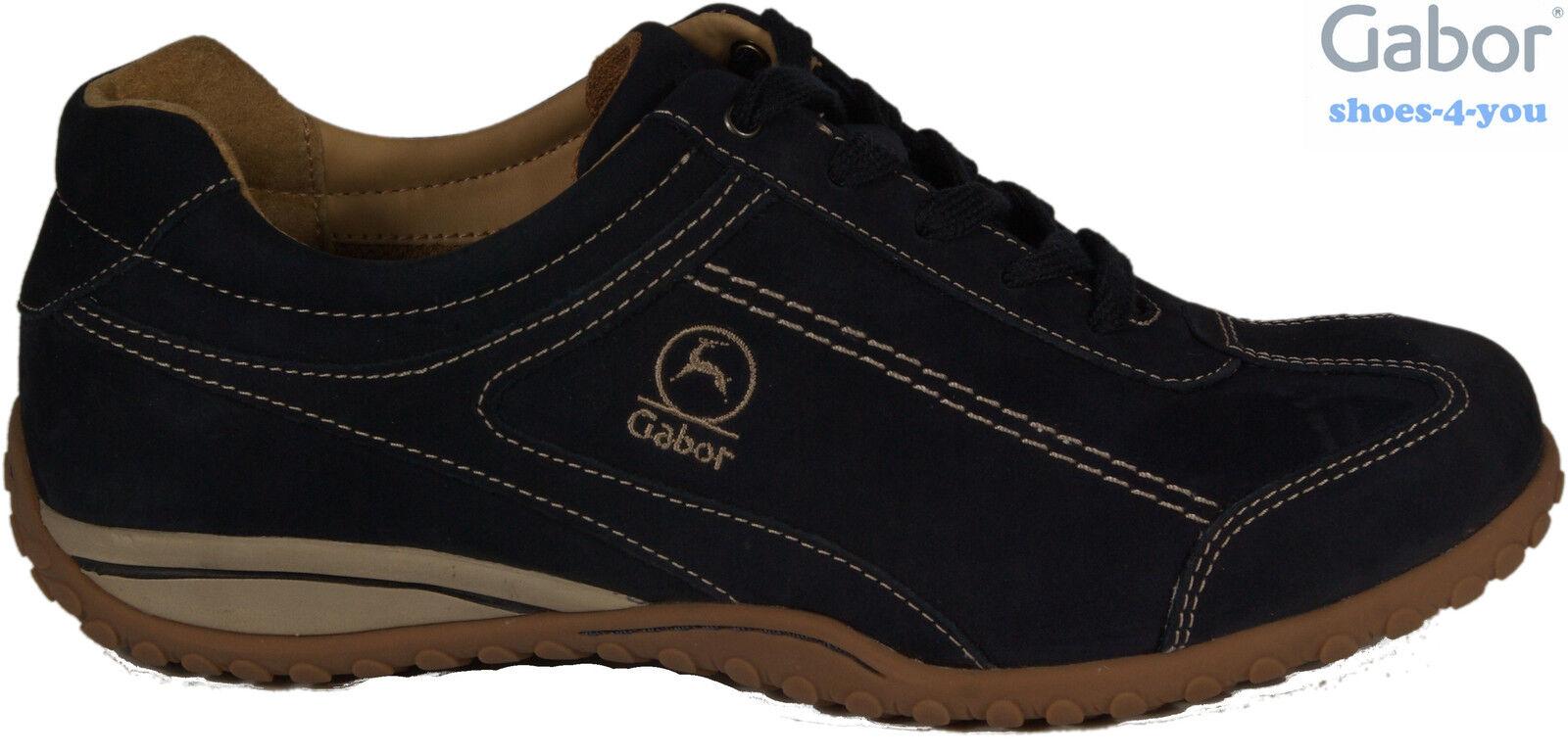 Gabor zapatos zapatos zapatos zapatillas zapato bajo schnürzapatos azul cuero auténtico cambio plantilla nuevo  producto de calidad